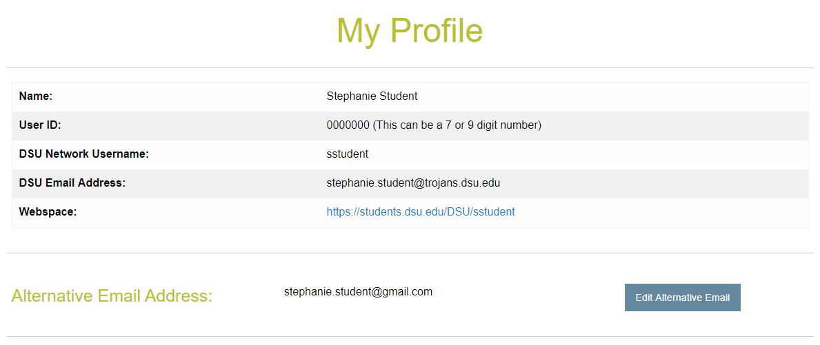 My Profile Account Information