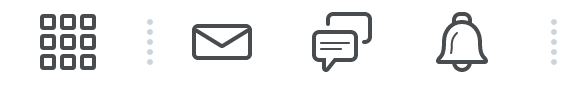 screen shot of message alerts on banner bar in D2L