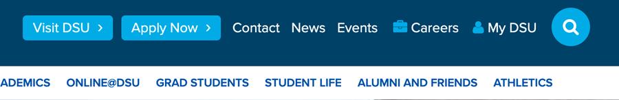screen shot of banner MyDSU button