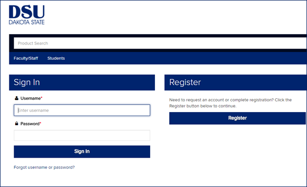 registration screen snap